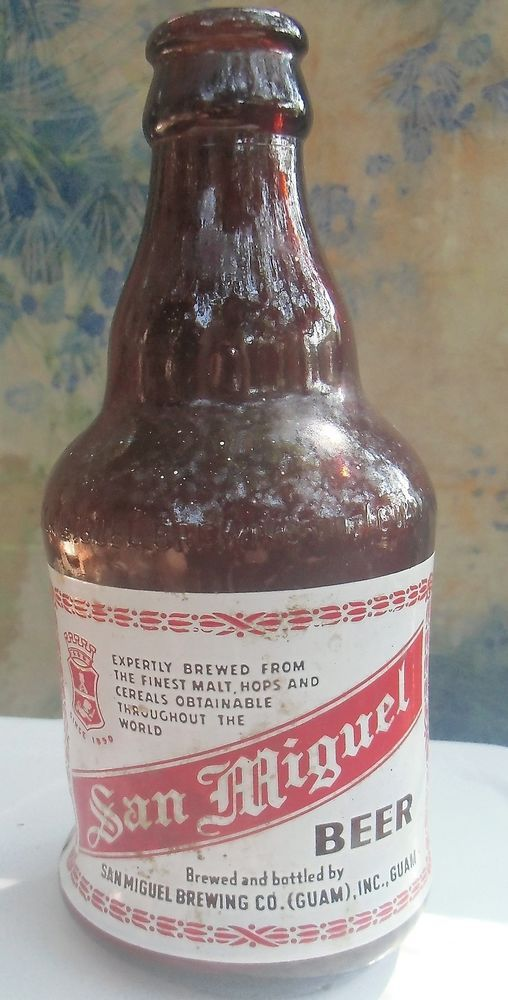 1960s SAN MIGUEL BEER Philippines MELTED BOTTLE (San Miguel Brewing GUAM)