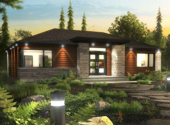 Maison neuve plain pied mod le actuel maisons for Devanture maison design