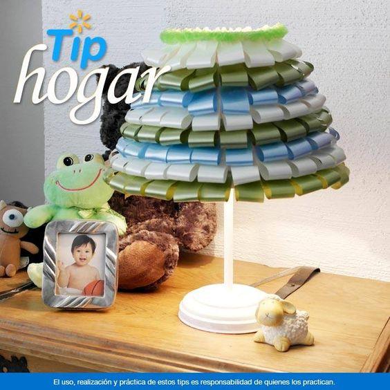 Renueva tus lámparas con esta original idea. Para darle un toque ...