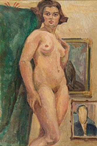 Malfatti, Anita, (1889-1964), Nu Feminino, Oil
