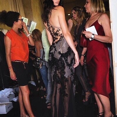 tonight @versace_official show backstage