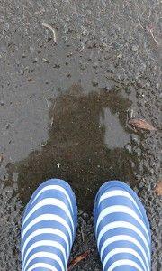 gumboots and puddles in ballarat - Winter Wonderland - cold / wet day things that make Ballarat Winters fun