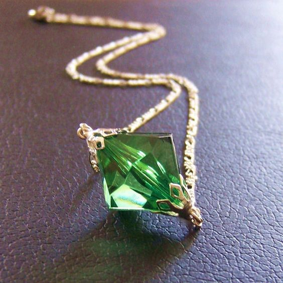 lang inspired green kryptonite necklace by