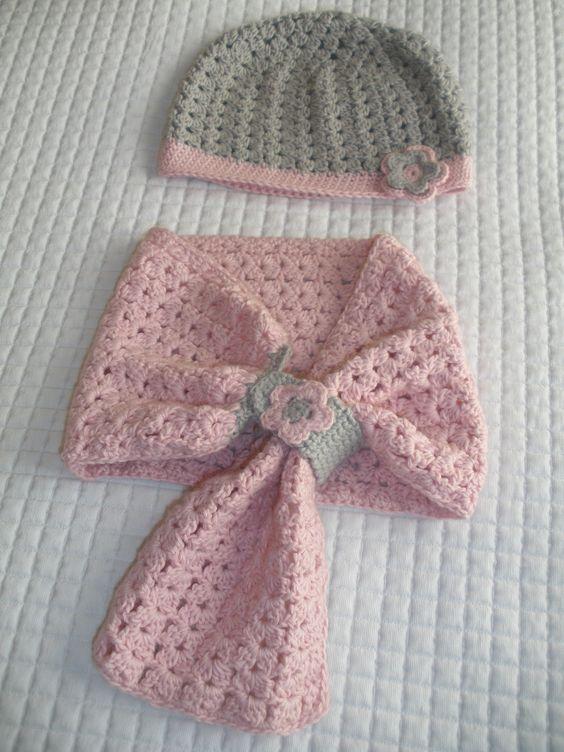 Bufandas Para Niñas, Gorros Y Sombreros, Gorros Kids, Botajas Tejidas, Gorros Bandas, Ponchos, Conjunto Bufanda, Roja Conjunto, Bufandas Crochet Niña