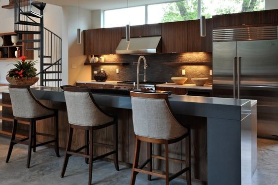 The Laurel Residence by StudioMET- ADORE this kitchen. Modern simplicity meets warm and earthy.