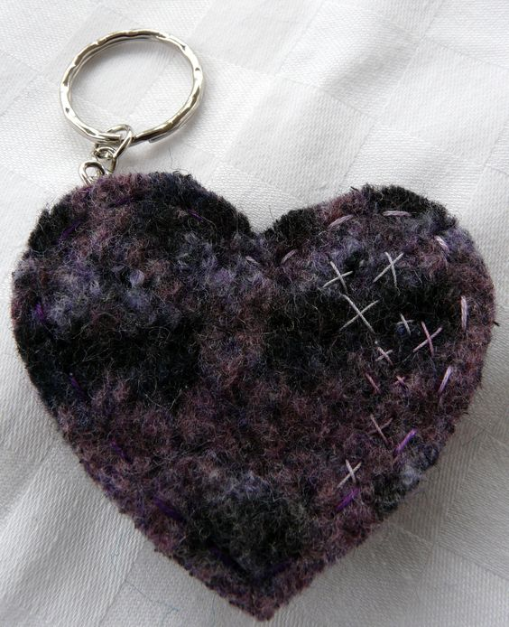 Another example of my key rings made from felted wool jumpers.