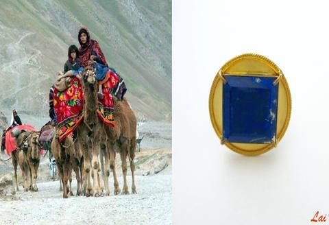 Magnificent, round, lapis set afghani statement ring