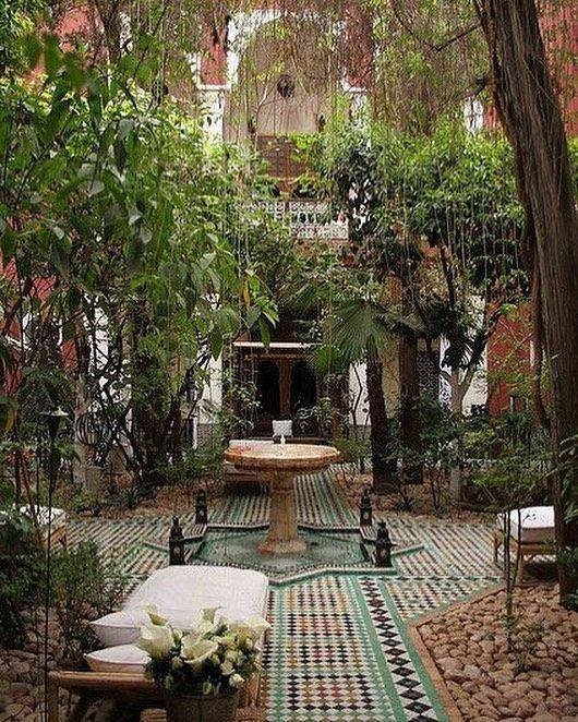 Riad Kaiss Courtyard Marrakech Backyard Outdoor Patio
