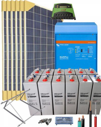 Kit Solar Vivienda Aislada 3000w 24v 9600whdia Energia Solar Energia Solar Termica Kit Solar