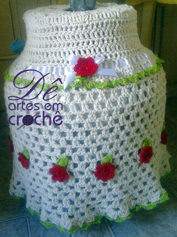 Capa para Botijão de Gás em Crochê by Dê Artes em Crochê