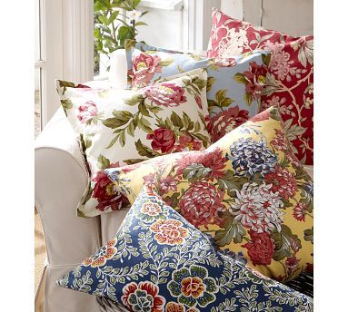 Vintage floral pillow covers
