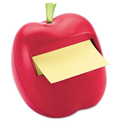 Red Apple Notes Dispenser for 3 x 3 Pads only $8.79. reshen up your desktop with this apple-shaped dispenser. Weighted for easy, one-hand dispensing. Includes 50 Canary Yellow Post-it® Pop-up Notes. Usually arrives in 1-2 business days. For more office supplies, visit us online at http://www.cleansweepsupply.com