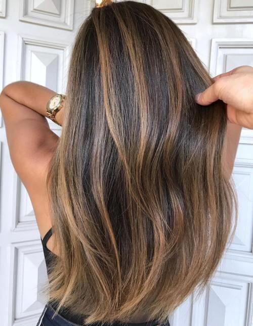 Highlights blonde braune haare Braune Haare