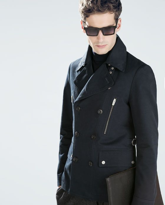 zara . men&39s double-breasted trench coat | Style: Men&39s Dark | Mix