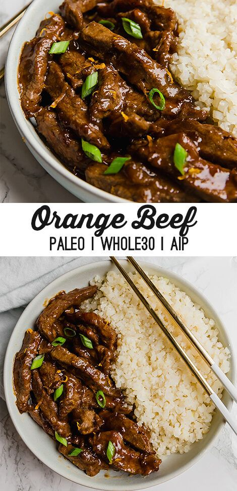 Orange Beef (Paleo, Whole30, AIP)