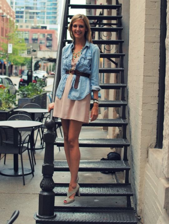 Great way to wear your chambray!