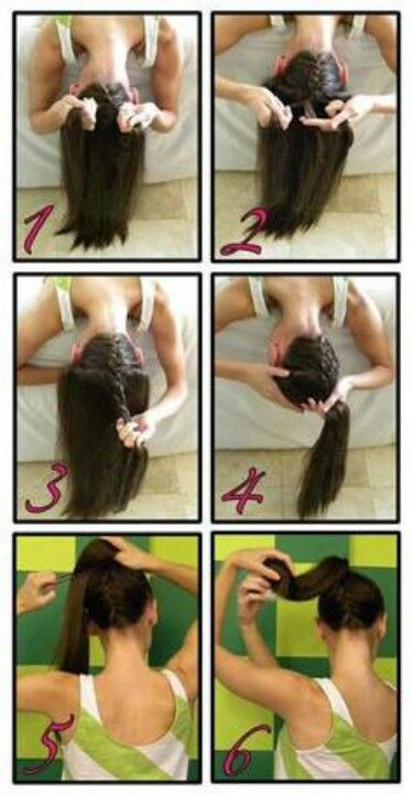 french braid with a sock bun - how to