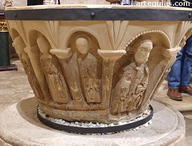 *SPAIN~Another jewel of the church of Moarves de Ojeda is its Romanesque baptismal font