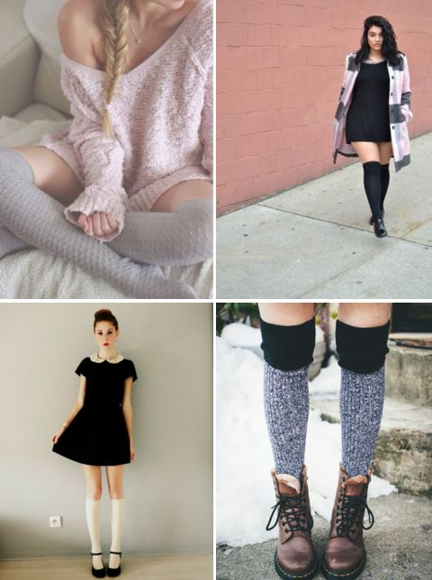 20 Style Tips On How To Wear Knee Socks This Winter: