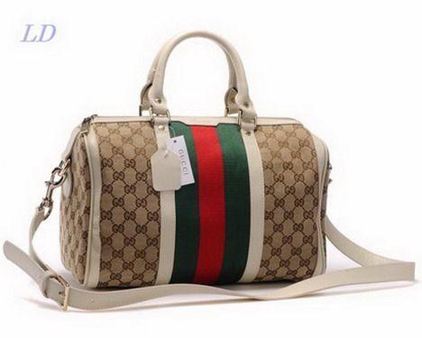 Gucci GG Canvas Shoulder Bags Beige 1
