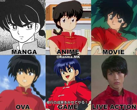 The Many Faces Of Ranma Saotome Although The Live One Could Be Better Ranma 1 2 Manga Ranma 1 2 Historietas Divertidas