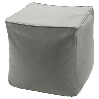 Grove Solid 3M Scotchgard Outdoor Pouf - Grey (18x18x18)
