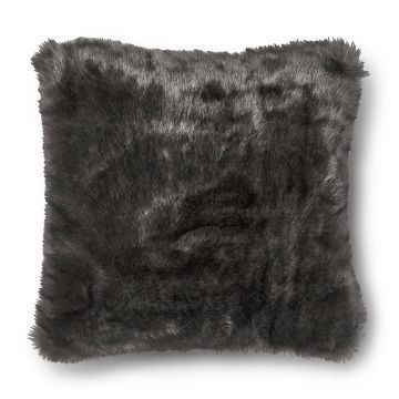 Threshold Long Fur Decorative Pillow : Grey Throw Pillow Faux Fur Oversized (24x24) Threshold For the Home Pinterest Fur, Decor ...