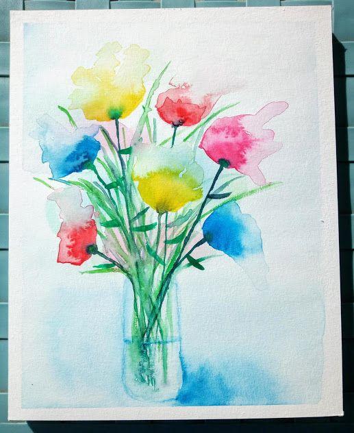 Comment Peindre Un Bouquet De Fleurs Abstrait A L Aquarelle