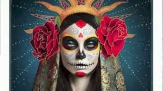 tutorial dia de muertos - YouTube