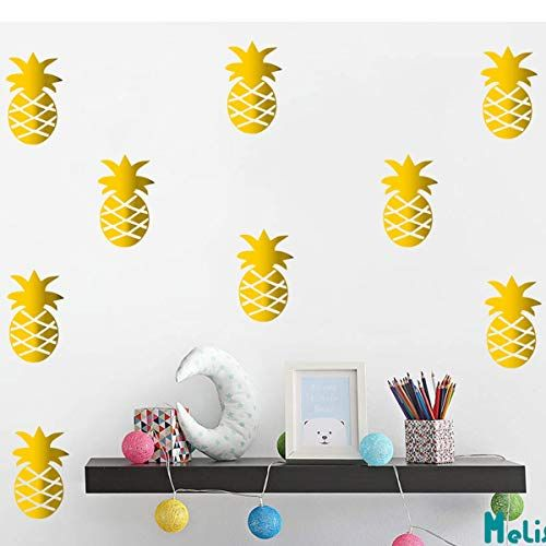 Melissalove Set Of 32 Pcs Pineapple Wall Stickers For Kids Room