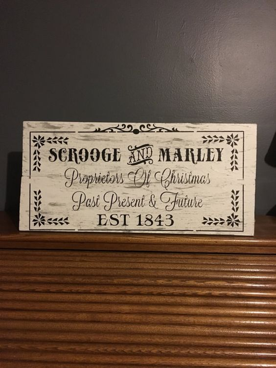 A Christmas Carol Scrooge and Marley sign