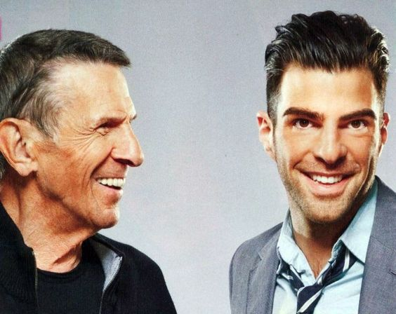 Leonard Nimoy & Zachary Quinto - This is too much Spock awesomeness for one pic!!!! <3