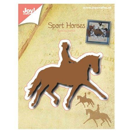 Die Découpe Joy Crafts Scrapbooking Motif Dessin Animaux cheval cavalier équitation
