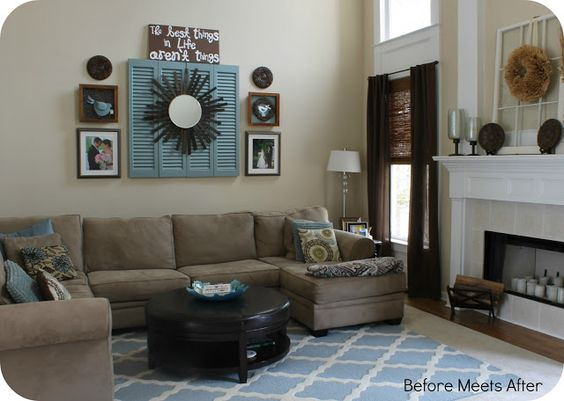 That Diy Party Blog Link Party Fireplaces Window And Blue Living Rooms
