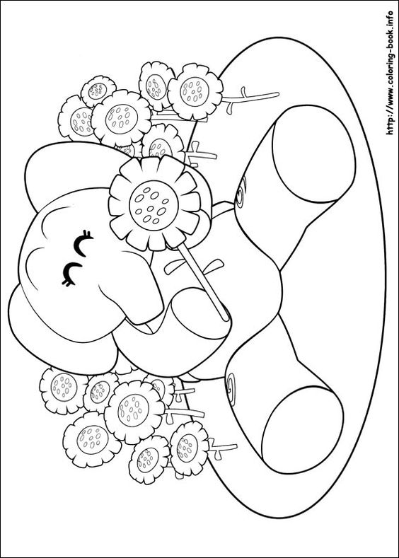 pocoyo coloring picture  coloring pages  pinterest
