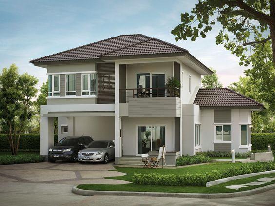 แบบบ้าน 2 ชั้น  พักอาศัย 3 ห้องนอน 2 ห้องน้ำ 1 ที่จอดรถ ลูกค้า - minecraft küche bauen