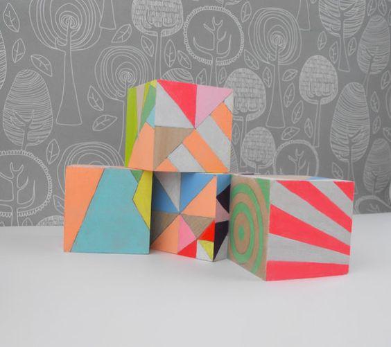 geometric neon blocks!!!!! $57