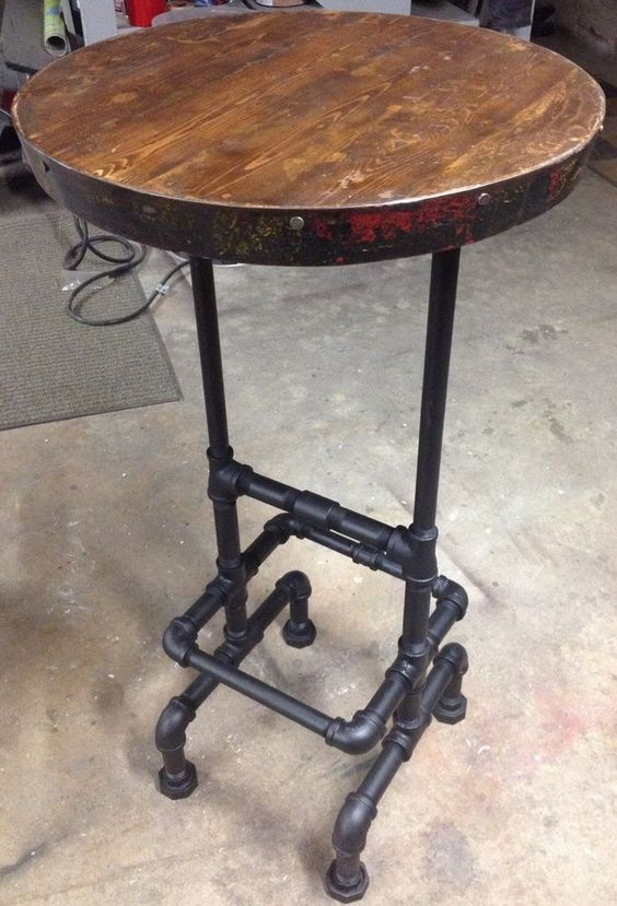 Industrial Pipe Pub Tables And Wine Barrels On Pinterest