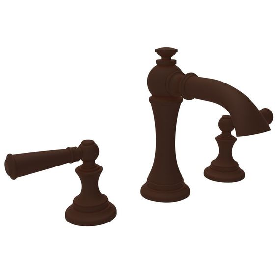 Newport Brass 2450 Double Handle Widespread Bathroom Faucet from the Sutton Coll Oil Rubbed Bronze (Hand Relieved) Faucet Lavatory Double Handle