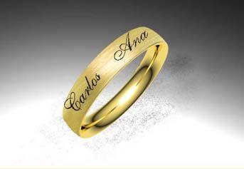 Crea tu joya - EXTREM. Alianza modelo grabada. Material oro amarillo. Calibre 3,5 o 5,0 mm a elegir.