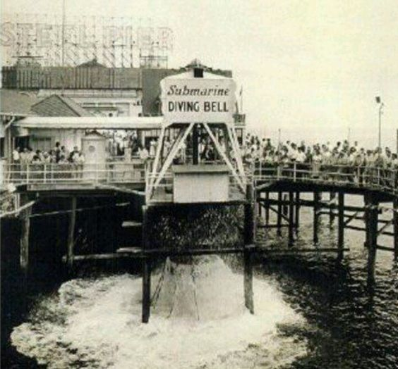 The old steel pier atlantic city new jersey the diving for Atlantic city fishing pier