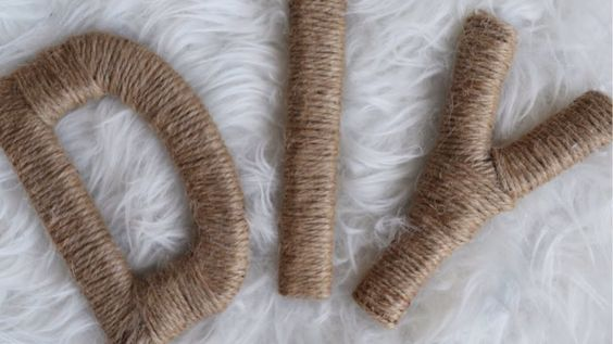 Make Inexpensive DIY Twine-Wrapped Letters - Crafts - Guidecentral