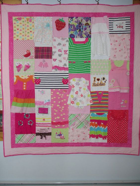CUSTOM ORDER for quilts made from baby clothes by BarbMalmTshirtQuilts on Etsy