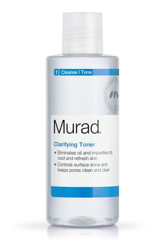 After such an intense triple cleansing session, your skin could benefit from a quick toning. Use one that's formulated for your skin type to clarify your epidermis without leaving your skin feeling tight. Murad Clarifying Toner, $22; murad.com   - MarieClaire.com