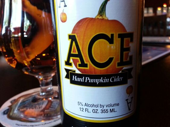 Ace Hard Pumpkin Cider- just had this on tap!  It was so good, perfect Fall Halloween drink!: