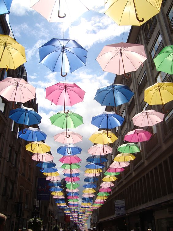 """""""Saw the umbrellas in Jerusalem, last summer I saw the same in Luxembourgh!"""" #imgur"""