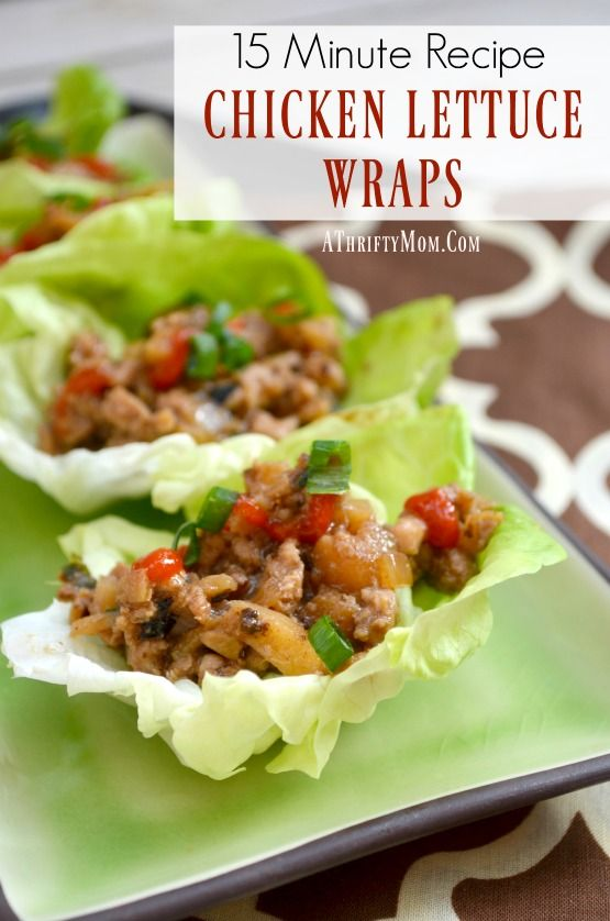 CHICKEN LETTUCE WRAPS 15 minutes recipe, easy dinner ideas that are fast and easy to make, Ground chicken recipes