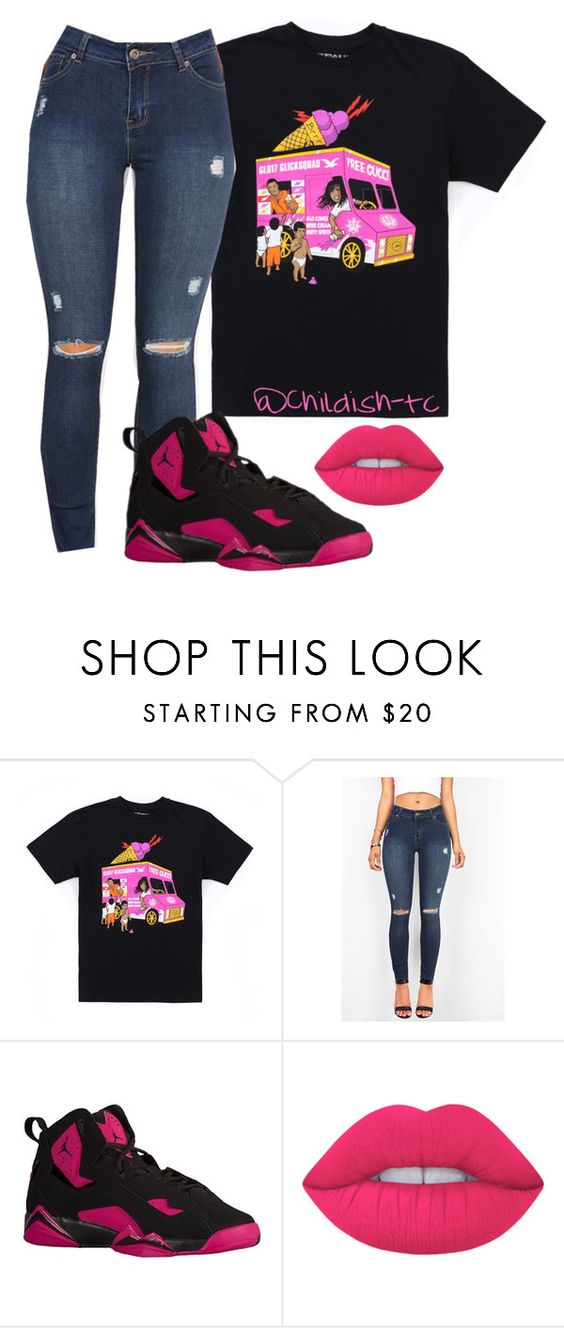 """"""""""" by childish-tc ❤ liked on Polyvore featuring Gucci and Lime Crime"""