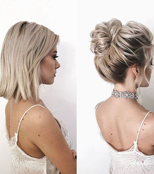 Quick Messy Updo For Short Hair Short Hair Styles Short Hair Updo Medium Hair Styles