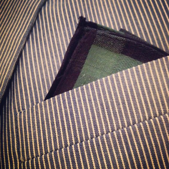 Style for the day. Frank and Oak suit with their raw cotton pocket square.